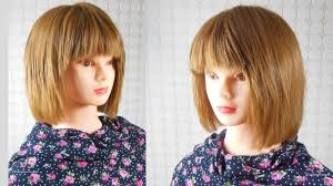 coupe cheveux carré dégradé short layered bob haircut corte de