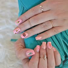 sweet treat nail art set metallic temporary nail flash tattoos