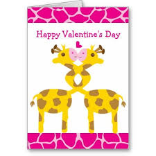 s day giraffe sweet giraffes in pink happy valentines day card cards