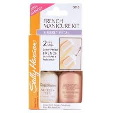 french manicure sally hansen french manicure kit sheerly petal