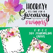 free cards free printable project journaling card insert sets archives
