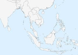 Blank Physical Map Of Europe by Outline Map Of Southeast Asia With Blank With Quiz