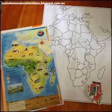 Do Continents Have Flags Suzie U0027s Home Education Ideas Continent Box Of Africa