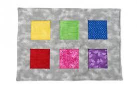 flannel bean bag toss game mat and rainbow bean bags set of 6