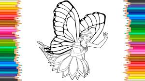 barbie mariposa and the fairy princess coloring pages l videos for