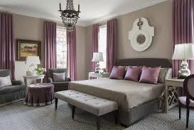 Purple Design Curtains Purple Curtain And Beige Wall Color For Grey Bedroom Ideas With