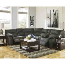 Ashley Furniture Tufted Sofa by Ashley Furniture Tambo Reclining Sectional In Pewter Space