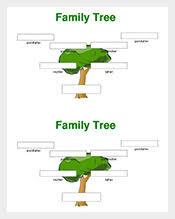 family tree template u2013 125 free sample example pdf format