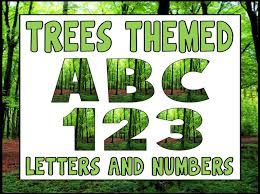 themed letters tree theme display lettering letters numbers and punctuation