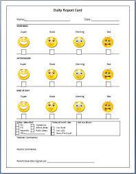daily behavior report template daily behavior chart template ideas resume ideas