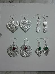 cardboard earrings hobby crafts aluminium foil earrings