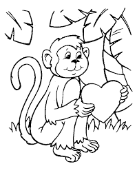 cartoon monkey coloring pages kids enjoy coloring baby monkey
