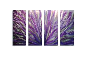 radiance purple 36x63 abstract metal wall art contemporary