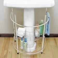 bathroom storage ideas sink 82 best pedestal sink storage solutions images on room