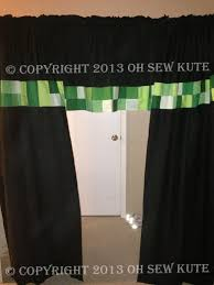 Curtains Valances Bedroom Unofficial Minecraft Inspired Curtains Valances Available In Any