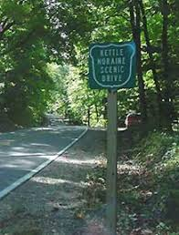 wisconsin scenic drives map kettle moraine scenic drive wisconsin dnr