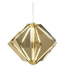 T5 Light Fixtures For Sale by Echo 1 Led Light Pendant Chandelier Mirror Brass For Sale At 1stdibs