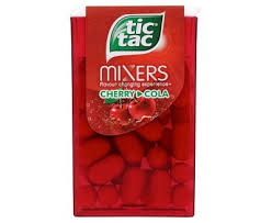 tic tac new tic tac mixers cherry cola 24 x 18g co uk grocery