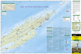 Michigan Area Code Map Isle Royale National Park National Geographic Trails Illustrated