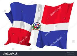 Domenican Flag Computer Generated Illustration Flag Dominican Republic Stock
