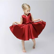 2017 new baby girls christmas dress children big bows v neck vest
