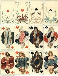 file german nouveau cards printed in attenburg 1900