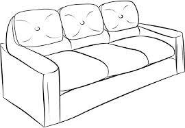 comment dessiner un canapé dessins de meubles à colorier