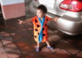 flintstone family halloween costumes practical mom his first halloween in a diy fred flintstone costume