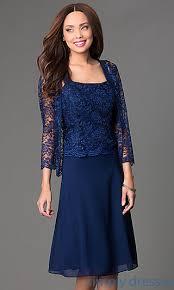 knee length dress with lace jacket