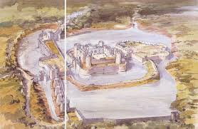 Beaumaris Castle Floor Plan by Olhain France First Built In The 12th Century Then Rebuilt In