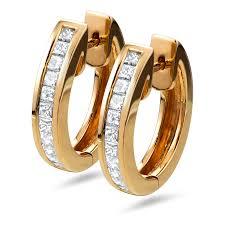 png gold earrings 18k gold huggie hoop 0 64 carat earrings