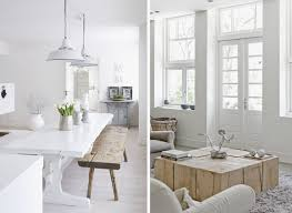 deco cuisine gris et blanc deco salon bois et blanc source d inspiration awesome idees