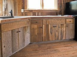 Barn Door Style Kitchen Cabinets Custom Crafted Barn Wood Cabinets Rustic Kitchen Other By