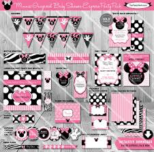 minnie mouse baby shower decorations baby shower decorations for a girl packages diabetesmang info