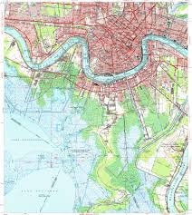 Maps New Orleans Download Topographic Map In Area Of New Orleans Metairie Harvey