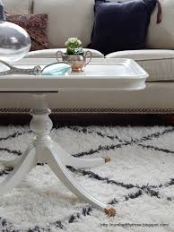 number fifty three antique white coffee table