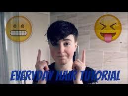 everyday hair tutorial trans ftm edition youtube