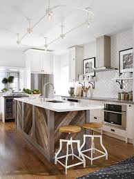 interior kitchen renovation ideas with rustic kitchen island and