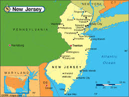 map of maryland delaware and new jersey new jersey map and new jersey satellite images