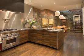Contemporary Kitchen With Stainless Steel Backsplash  Lshaped - Custom stainless steel backsplash
