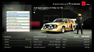 audi rally gt6 reglaje audi quattro s1 rally car 86 coches de rally 500 pr