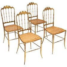 chiavari chairs for sale vintage set of four chiavari chairs in solid brass at 1stdibs