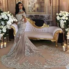luxury wedding dresses luxury 2017 wedding dress sheer bling beaded lace appliques