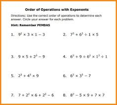 order of operations worksheet printable order of operations