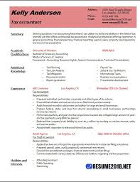 Accounting Resume Experience Sample Tax Accountant Resume Senior Accountant Resume Samples
