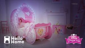 girls princess carriage bed hellohome disney princess carriage toddler bed youtube