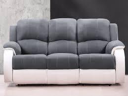 canap relax gris canapé 3 places relax bilston pas cher microfibre gris et blanc prix