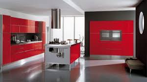 Red Colour Kitchen - home design ide modern retro kitchen red and white colour kitchen
