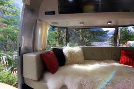 view from our airstream travel trailers panoramic window