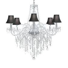 All Crystal Chandelier Venetian Style All Crystal 5 Light Chandelier Murano Venetian